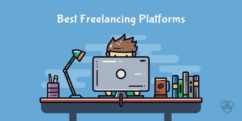 A featured image of an illustrated character working as a freelancer, best freelancing websites for Pakistani freelancers