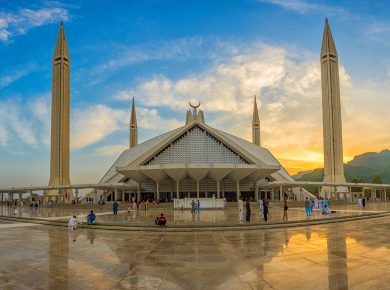 A photo of Faisal Mosque Islamabad